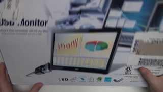 aoc e1649fwu 16 usb powered portable led monitor unboxing