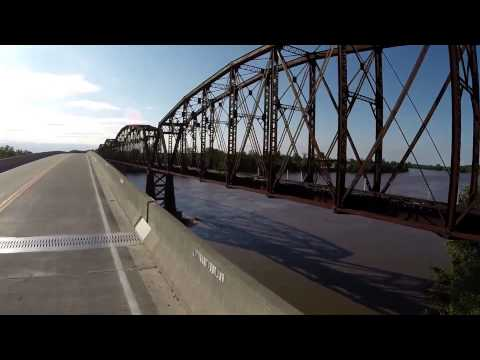 Kansas City Southern RR bridge, Glasgow, MO