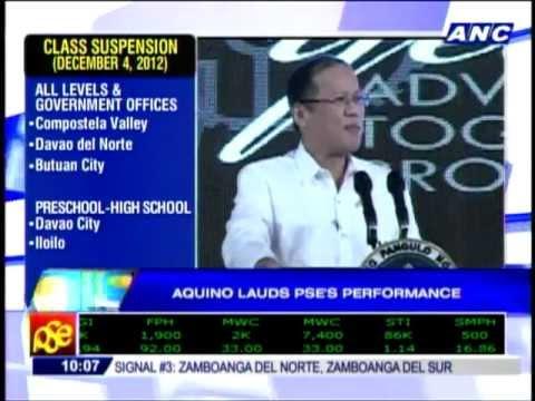 Aquino Praises PSEi's Performance