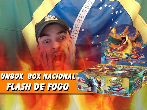 5º Pokémon TCG: Unbox Box BR Flash de Fogo! Rate Melhorou? [Parte 01/02]