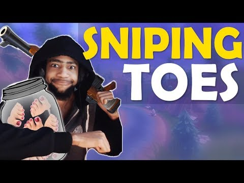 DAEQUAN SNIPING TOES FOR HIS TOE COLLECTION | HIGH KILL FUNNY GAME- (Fortnite Battle Royale)(edited)