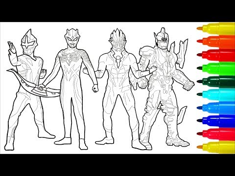 Ultraman Zero Wiki Monsters Ultra Sever Heroes # 2 Coloring Pages | Colouring Pages For Kids