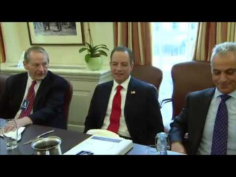 Reince Priebus meets with Denis McDonough and other former White House Chiefs of Staff