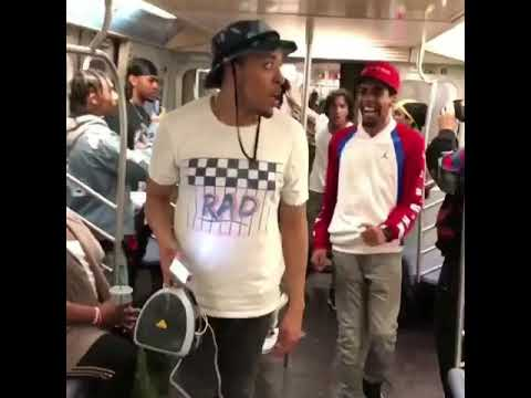#PushBackChallenege NYC Train Dancers Killed it! Neyo Stefflon don p kidthewiz