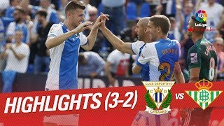 Resumen de CD Leganés vs Real Betis (3-2)