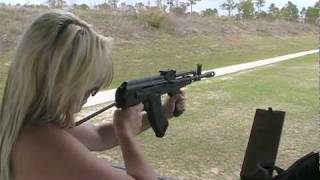 Daniella Firing Hungarian AMD-65 AK-47 Rifle