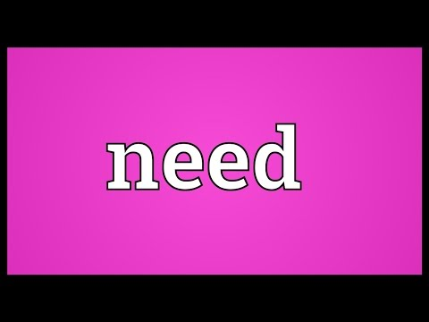 I need you to meaning in hindi