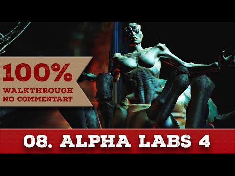 Doom 3 Walkthrough (Nightmare, All Collectibles) part 8 ALPHA LABS - SECTOR 4