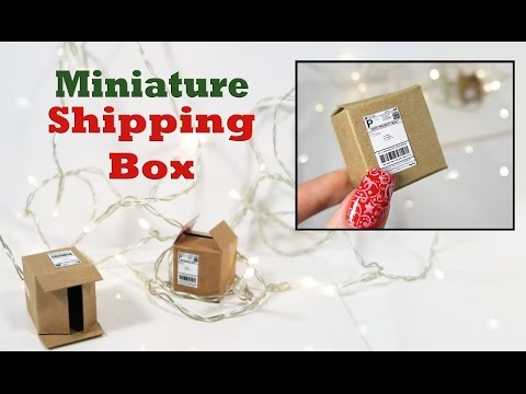 DIY- Make a Mini Shipping Box!