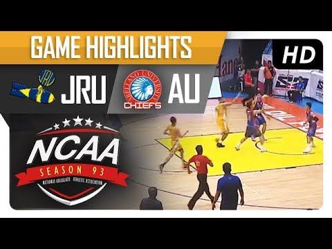 JRU vs. AU | NCAA 93 | MB Game Highlights | September 7, 2017