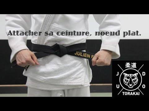 b7c097223002 Comment attacher sa ceinture, noeud plat. Judo Torakai