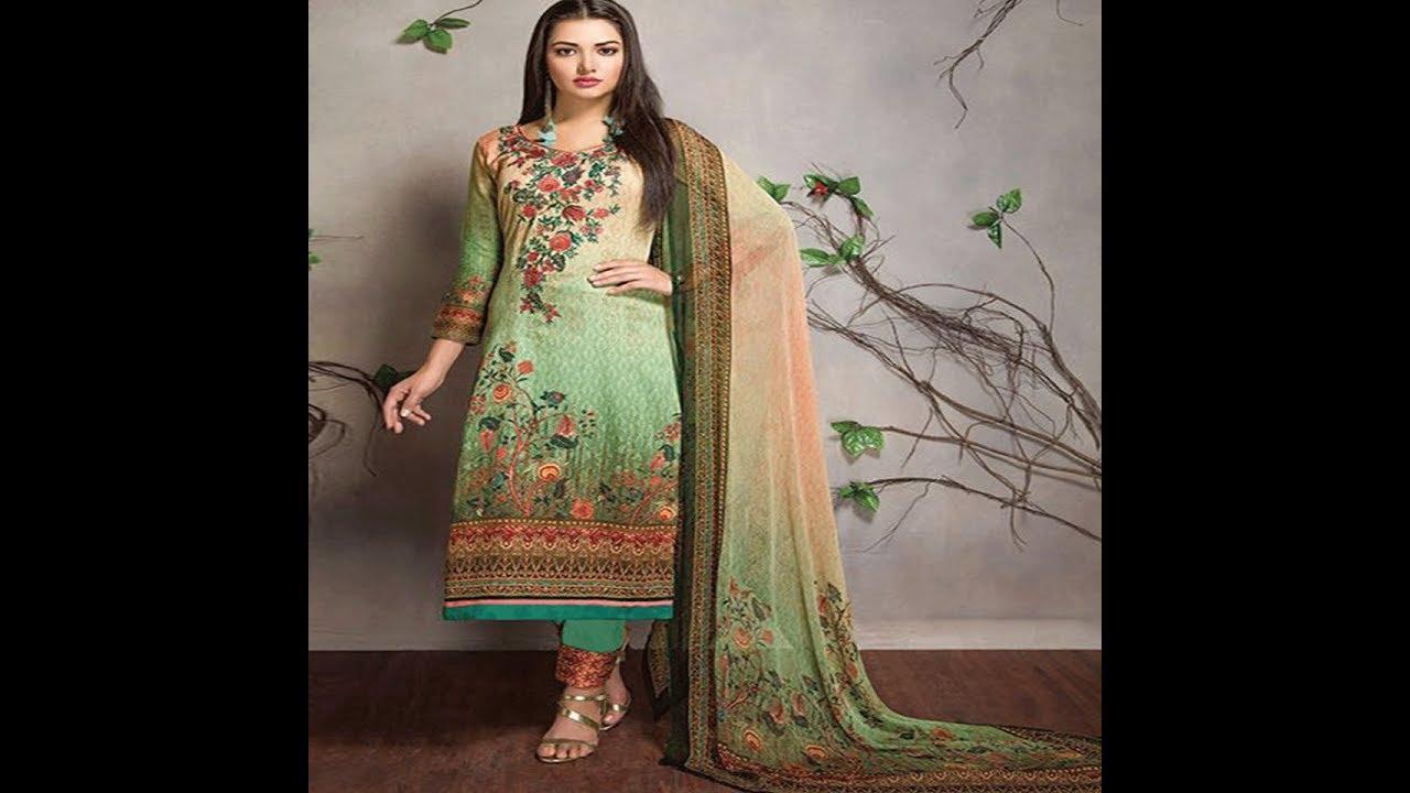 6e96246d64 Designer Churidar Salwar Kameez Cotton Material || Cotton Salwar Kameez