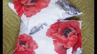 Наволочка с молнией (50х70 см)(В видео показано как правильно разрезать ткань размером 1.10м х 2.20м на три наволочки размером 50х70 см. Затем..., 2014-10-03T18:02:19.000Z)