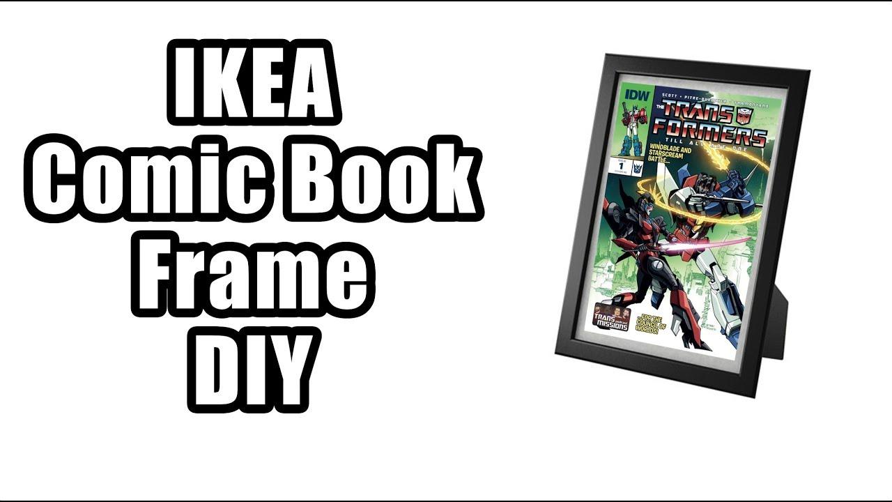 ikea comic book frame diy guide youtube