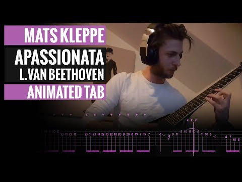Appassionata - Op - 57 - 3rd Movement - Beethoven - Mats Kleppe - Animated Tab