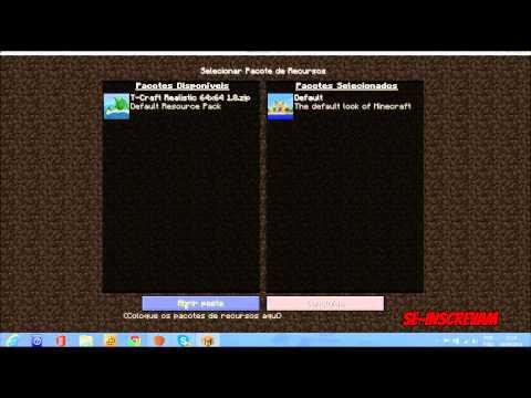 Tutorial Como Colocar Pacote de Textura no Minecraft !