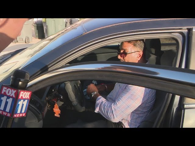 FOX 11 confronts real estate impostor accused of pocketing victim's security deposits