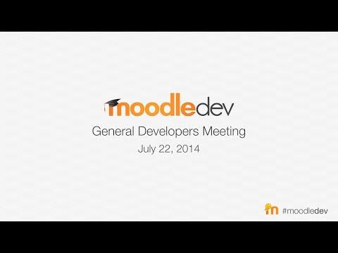 Moodle General Developer meeting - July 2014