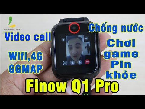 REVIEW ĐỒNG HỒ THÔNG MINH FINOW Q1 PRO – Video call,chơi game,Pin khỏe, sim 4G