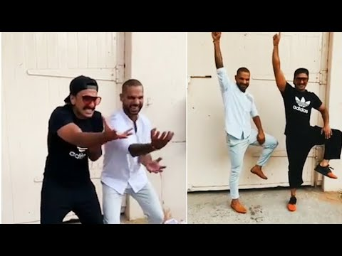 Ranveer Singh & Shikhar Dhawan recreate 'Khalibali' step from Padmaavat