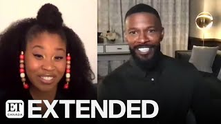 Dominique Fishback & Jamie Foxx Talk 'Project Power' | EXTENDED
