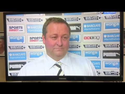 Mike Ashley does an interview