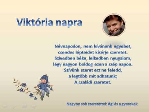 viktória névnapi köszöntő Névnapi köszöntő   YouTube viktória névnapi köszöntő