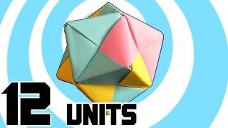 Модульне Орігамі Зірчастого Октаедра 12 Одиниць Сонобэ