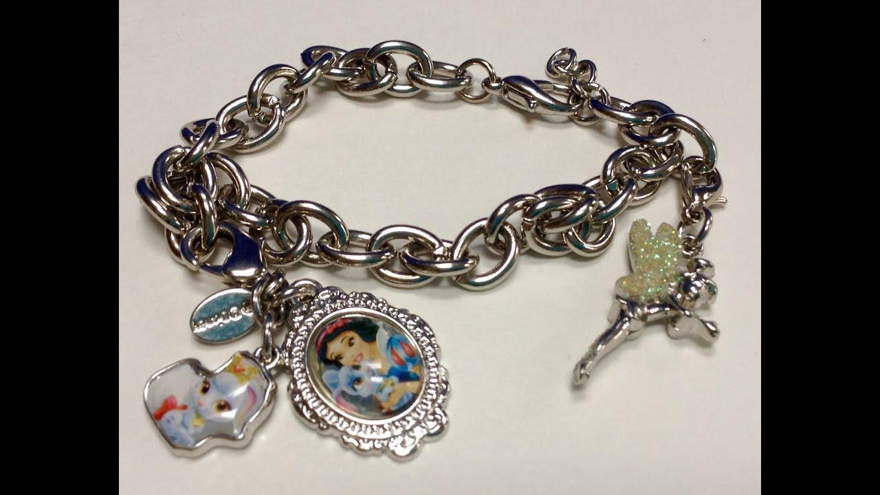 Disney Rewards Charm Bracelet Tinkerbell & Snow White Charms