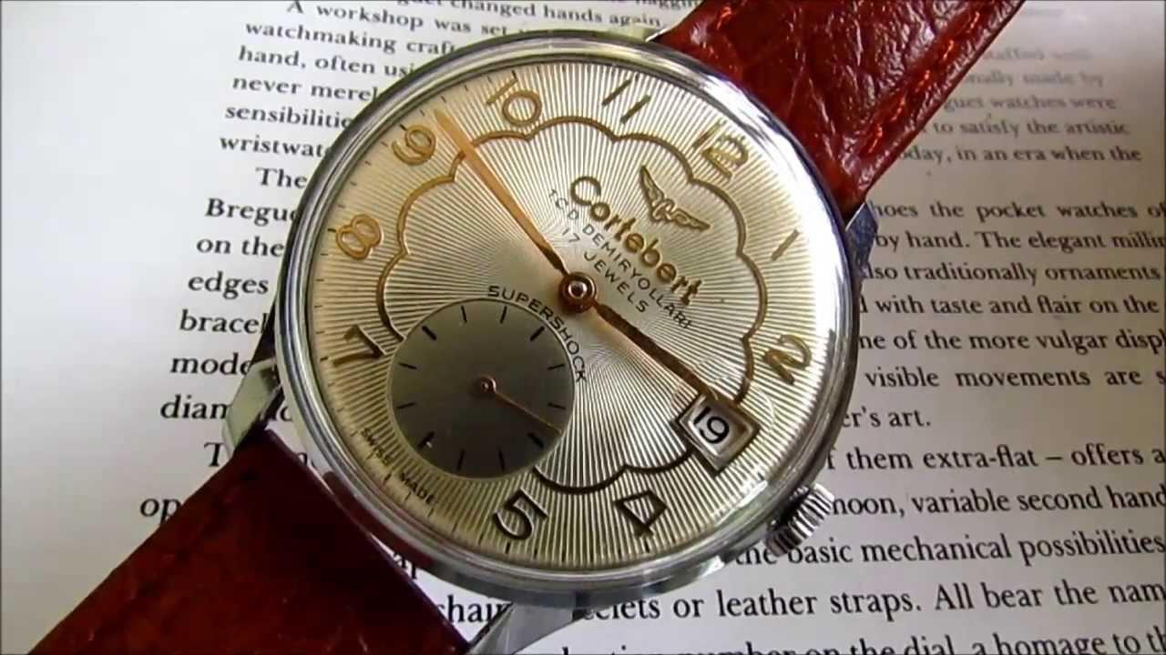 cortebert rail road wrist watch company logo tcdd youtube