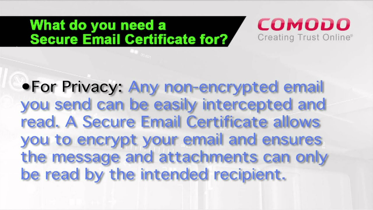 Free Secure Email Certificate Youtube