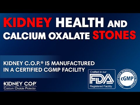 Kidney C.O.P. is Manufactured in a FDA CGMP Facility