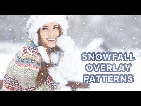 How To Use Snowfall Overlay Patterns In Photoshop
