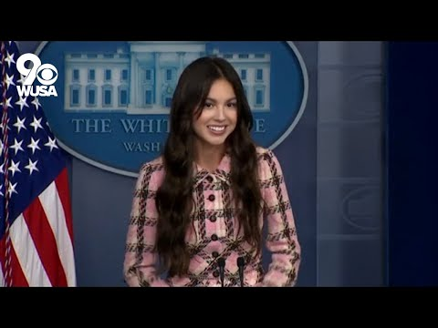 Olivia Rodrigo: Pop star visits White House to urge young people to ...