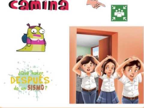 Material didáctico sobre prevención de sismos en la escuela - YouTube