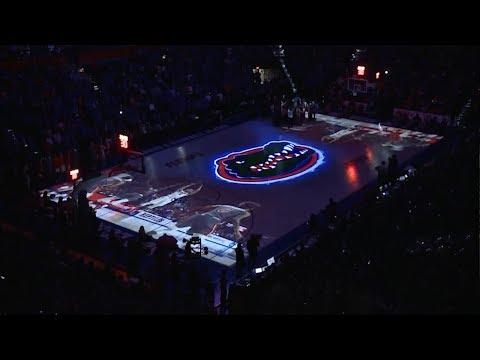 Florida Gators Basketball 2017-18 | Court Projection Live Version |