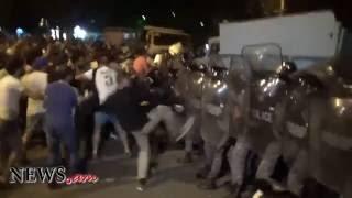 Խորենացու փողոցում բախումներ են ցուցարարների եւ ոստիկանների միջեւ