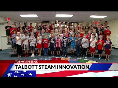 Talbott STEAM Innovation School third grade Pledge of Allegiance