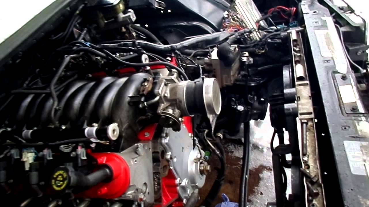 How To Ls Swap An 1994 1996 Impala Ss Engine Running