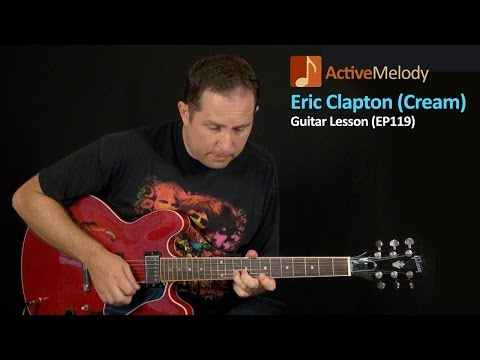 Cream Style (Eric Clapton) Blues Guitar Lesson – EP119