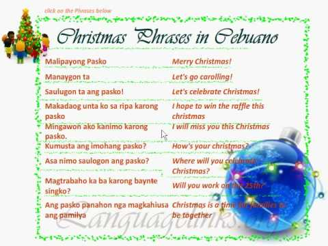 Cebuano christmas phrases youtube m4hsunfo