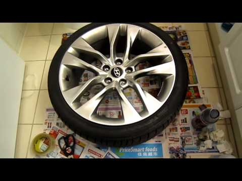 How To Repair And Paint Scratched Alloy Wheel (2015 Hyundai Genesis Coupe).