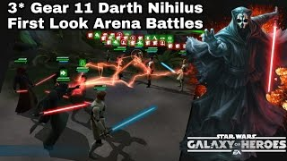 Star Wars Galaxy Of Heroes First Look 3* Gear 11 Darth Nihilus Battling In The Arena!