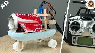 Como fazer um Carrinho - Barco - Aerobarco ( Coca-cola que Faz Drift)