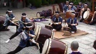 2016年5月3日、京都・法住寺 曲目:3.風華(ふうか) -和太鼓 悳(shi...