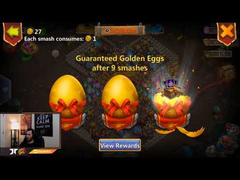 Smashing 3 Golden Eggs For The Big Boy Rewards ONETIME Castle Clash
