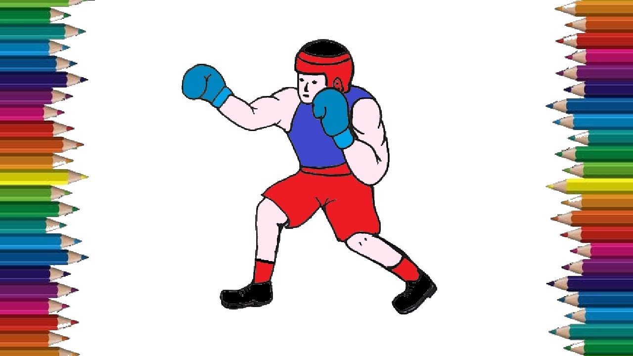 Free Olympic Boxing Coloring Pages, Download Free Clip Art, Free ... | 720x1280