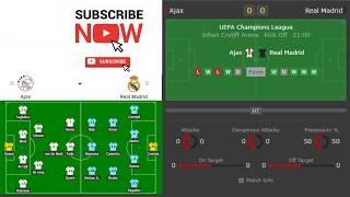 ⚽ AJAX - REAL MADRID 1-2 13-02-2019 HIGHLIGHTS FULL MATCH RADIO LIVE  UEFA CHAMPIONS LEAGUE CUP
