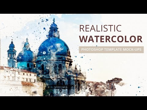 Realistic Watercolor Photoshop Template Mock-ups Tutorial