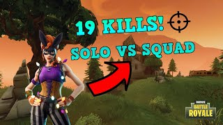 "FORTNITE: 19 Kill Solo vs Squad ""Bunny Moon Skin Gameplay""!!!"